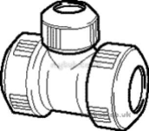 Hep2O Underfloor Heating Pipe and Fittings -  Hep20 15mm X 15mm X 10mm D/f B/red Tee Hd13