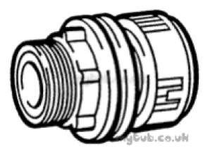 Hep2O Pipe and Fittings -  Hep20 22mm X 3/4 Inch D/f Tank Connector Hx20