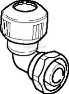 Hep2O Underfloor Heating Pipe and Fittings -  Hep20 15mm X 1/2 Inch D/f Bent Tap Conctr Hd27