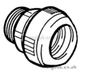 Hep2O Underfloor Heating Pipe and Fittings -  Hep20 3/4 Inch X 22mm T/f Male Sckt Adpt Hx29