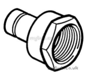 Hep2O Underfloor Heating Pipe and Fittings -  Hep20 3/4 Inch X22mm T/f Fem Spigot Adpt Hx30