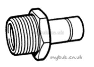 Hep2O Underfloor Heating Pipe and Fittings -  Hep20 1/2 Inch X15mmt/f Male Spigot Adpt Hx31