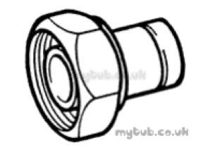 Hep2O Underfloor Heating Pipe and Fittings -  Hep20 1x 22mm T/f Cylnr Connector Hx34
