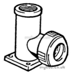 Hep2O Pipe and Fittings -  Hep20 1/2 Inch X 15mm T/f Wall Plate Elb Hx6