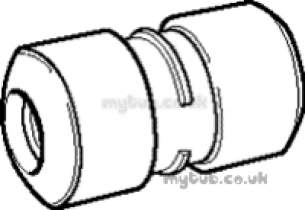 Hep2O Pipe and Fittings -  Hep20 22mm Slimline Str Connector Hx1