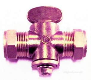 Gas Fire Fittings and Gas Cocks -  22mm Gas Cock Comp X Comp Fan Key