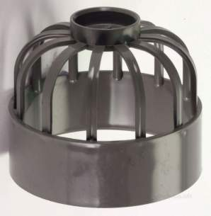 Center Soil Waste and Overflow -  Center Vent Pipe Guard 110mm Grey