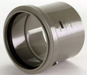Center Soil Waste and Overflow -  Center Pipe End Socket 110mm Grey 1 Pack