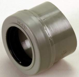 Center Soil Waste and Overflow -  Center Boss Adaptor 110mm X 32 Mm Grey