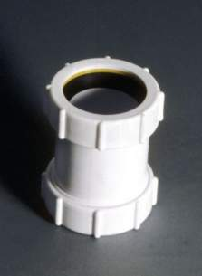 Polypipe Waste and Traps -  Polypipe Ps32-w 32mm Universal Comp.connector Ps32-w 1 Pack