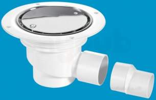 Mcalpine Waste traps overflow -  Mcalpine Tsg1ss Trapped Shower Gully Seal 75mm