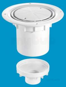 Mcalpine Waste traps overflow -  Mcalpine Tsg2wh Trapped Shower Gully Seal 75mm