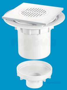 Mcalpine Waste traps overflow -  Mcalpine Tsg2t6wh Trapped Shower Gully Tile 150mm