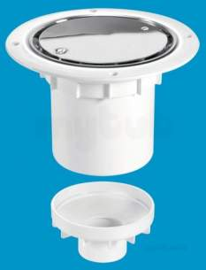 Mcalpine Waste traps overflow -  Mcalpine Tsg2ss Trapped Shower Gully Seal 75mm
