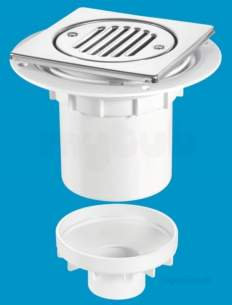Mcalpine Waste traps overflow -  Mcalpine Tsg2t6ss Trapped Shower Gully Tile 150mm