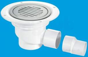 Mcalpine Waste traps overflow -  Mcalpine Tsg1ssslnsc Seal Shower Gully Stainless Steel Grate 75mm