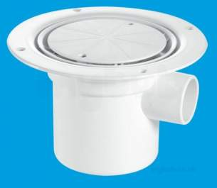 Mcalpine Waste traps overflow -  Mcalpine Tsg3wh Seal Shower Gully Grate 50mm White
