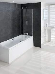 Eastbrook Baths -  Volente 8mm Hinge Bath Screen 850 X 1500 Silv