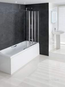 Eastbrook Showers -  Volente 1000mm 1 Fxd And 3 Foldg Pnl Rh Sil