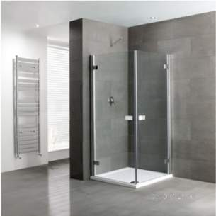 Eastbrook Showers -  Volente 900 X 900 Double Hinge Door Silver