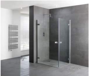 Eastbrook Showers -  Volente 900 X 760 Double Hinge Dr Slv
