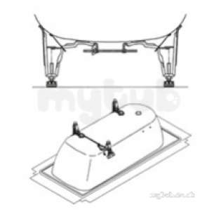 Kaldewei Steel Baths -  Kaldewei 5030 Bolt-on Leg Set 581470000000