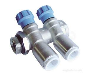 John Guest Speedfit Pipe and Fittings -  John Guest Jgman4 Na 4 Port Brass Manifold