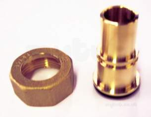 Gas Meter Union Fittings -  1x 22mm Brass Gas Meter Union And Washer