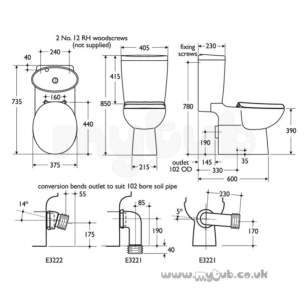 Ideal Standard Luxury -  Ideal Standard Kyomi E5304 Cc Bsbo F/valve Cistern Wh