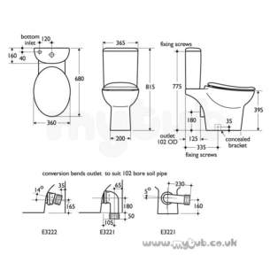 Ideal Standard Wc Seats -  Ideal Standard Purity K7043 Wc Seat Only Wh Special
