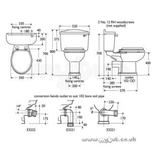 Ideal Standard Classic -  Ideal Standard Revue Cc Cistern White Very Limited Stock