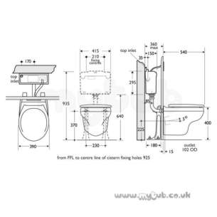 Armitage Shanks Commercial Sanitaryware -  Armitage Shanks Braemar S6800 P Trap Wc Pan Wh Replaced With S680901
