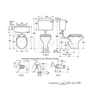 Ideal Standard Grips and Levers -  Ideal Standard Reflections E4755 Cistern Lever Cp