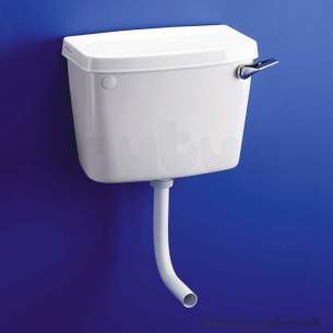 Armitage Entry Level Sanitaryware -  Armitage Shanks Compact S3902 Ll Bottom Supply Int Ovf Cistern Wh