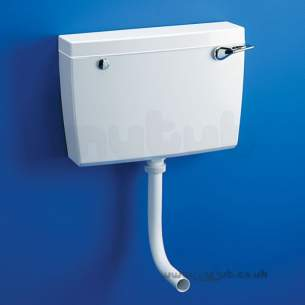 Armitage Plastic Cisterns -  Armitage Shanks Regal Slim Line S374001 6l Side Supply Int Ovf Cistern Wh