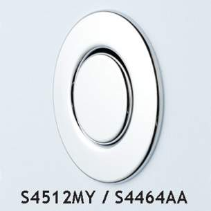 Armitage Shanks Commercial Brassware -  Armitage Shanks Finger S4512 S/f Wall Push Button S/s