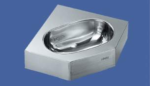 Sissons Stainless Steel Products -  Wt310es Corner Wash Basin 1th Ss