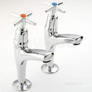 Pegler Mercia Brassware -  Mercia X-top 1/2 Inch High Neck Sink Taps
