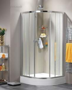 Roman Shower Enclosures -  Roman 1000 X 800mm Curved Quadrant Wht