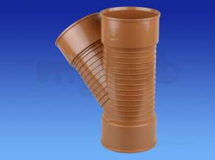 Wavin UltraRib Large Diameter Drainage -  Wavin Ur Junction 45deg Bn 150 Sn8 D/s 6ur213