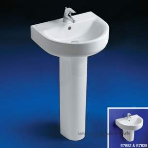Ideal Standard Concept -  Ideal Standard Arc E787401 600mm 2th Basin White