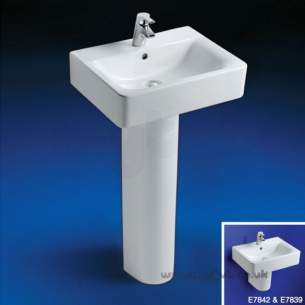 Ideal Standard Concept -  Ideal Standard Cube E784201 550mm 1th Basin White