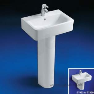 Ideal Standard Concept -  Ideal Standard Cube E799201 550mm 1th Short Basin White