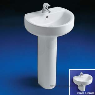 Ideal Standard Concept -  Ideal Standard Sphere E786201 550mm 1th Basin White
