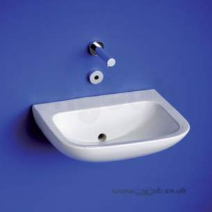 Armitage Shanks Commercial Sanitaryware -  Armitage Shanks Contour 21 Basin 50cm White Nof Nchn No Tap Holes S2154