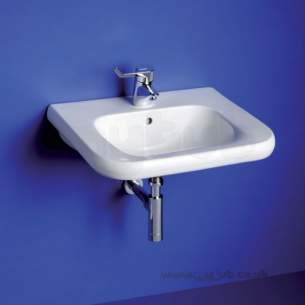 Armitage Shanks Commercial Sanitaryware -  Armitage Shanks Contour 21 Basin 55 White Wheelchair No Tap Holes