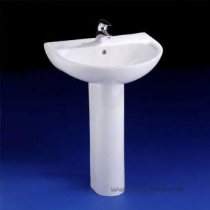 Ideal Standard Create -  Ideal Standard Create E3015 Full Pedestal White