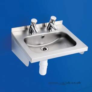Armitage Shanks Commercial Sanitaryware -  Armitage Shanks Denholm2 Basin 51x42 Pol S/s 2th