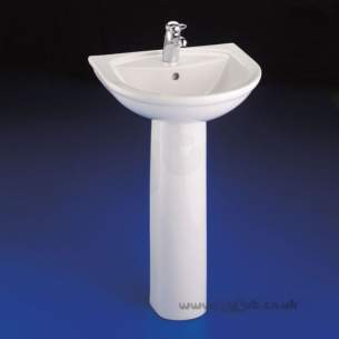 Armitage Entry Level Sanitaryware -  Armitage Shanks Halo S2008 600mm One Tap Hole Basin White