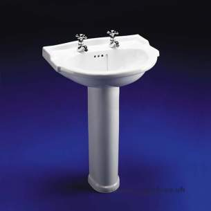 Armitage Shanks Mid Range Sanitaryware -  Armitage Shanks Lichfield S2063 520mm One Tap Hole Wash Basin Only Wh